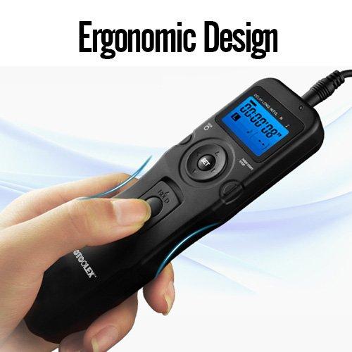 Photoolex T710C Digital Camera Remote Controller LCD Timer Shutter Release Remote Control for Canon 700D/T5i, 650D/T4i, 550D/T2i, 500D/T1i, 350D/XT, 400D/XTi, 1000D/XS, 450D/XSi, 60D, 100D etc