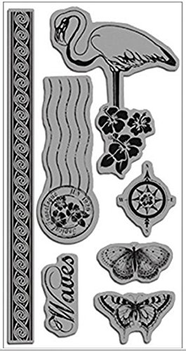 (Hampton Art G45TTIC-134 Graphic 45 Tropical Travelogue Acetate Cling Stamps 4 in. x 8 in.-Venetian Lace)