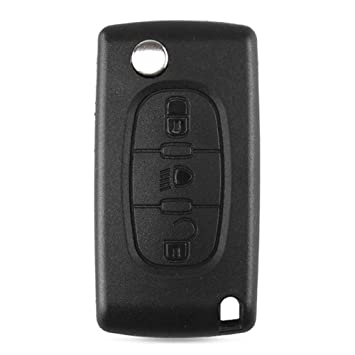 Febelle - Funda para llave de coche con 3 botones para Citroen C2, C3, C4, C5, C6, C8