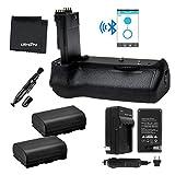 Bluetooth Battery Grip Bundle F/ Canon EOS 70D: Includes BG-E14 Replacement Grip, 2-Pk LP-E6 Long-Life Batteries, Charger, Microfiber Cleaning Cloth, Lens Cleaning Pen