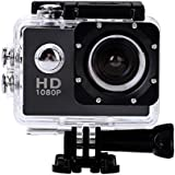 Acouto Action Camera 12M 4K Wifi Waterproof Sports Cam 140°Wide Angle with Waterproof Housing Case and Bicycle Hanlebar Bracket Accessories Kits (Black)