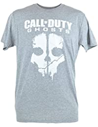 Call of Duty Ghosts Cod Skull Action Video Game Tshirt Graphic Grey Tee