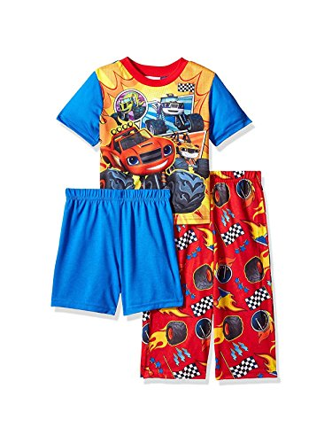 Nickelodeon Toddler Boys' Blaze 3-Piece Pajama Set