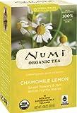 Numi Organic Tea  Chamomile Lemon, Herbal Teasan, 18 Count Tea Bags (Pack of 3)