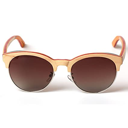 Gafas de sol de madera semi-sin montura de madera hechas a ...
