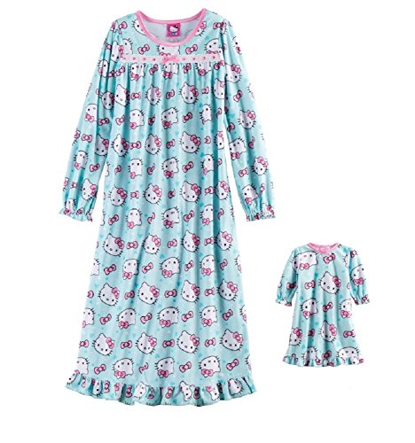 - Hello Kitty Pink Bow Nightgown & Doll Gown Set - Girls (6)