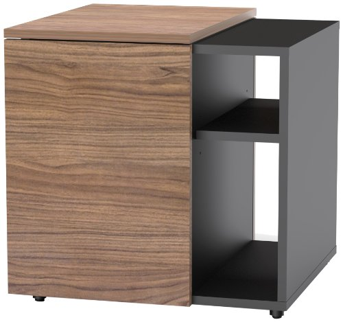 Next End Table 600836 from Nexera, Black and Walnut
