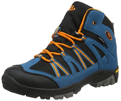 EB kids Ohio, Zapatos de High Rise Senderismo Unisex Niños Azul (Petrol/schwarz/orange)