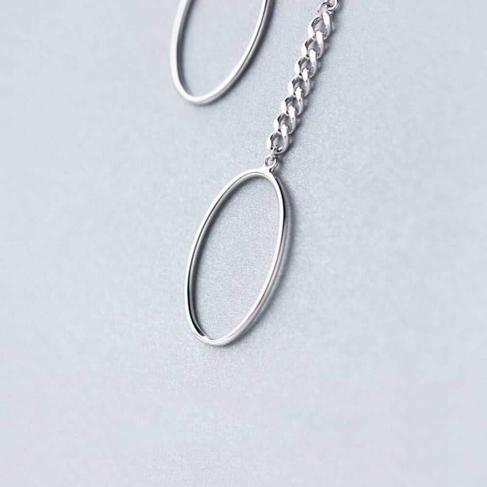 Frauen Einfache Stern S925 Silber Ohrringe Damenmode Süße Sterne Asymmetrische Ohrringe Einfache Persönlichkeit Ohrringe SGP Jewellery & Watches Necklaces & Pendants