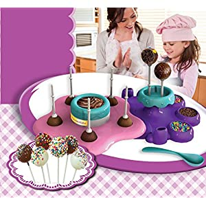 AMAV Cake Pops Maker Toy Activity Set Using Microwave Baking - DIY Make Your Own Delicious Treat - Edible Sweet Art
