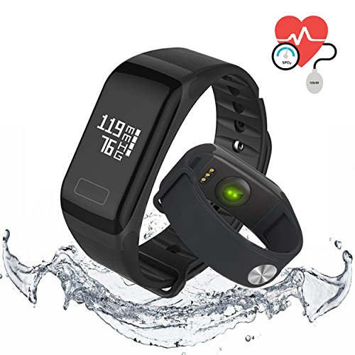 QIANXIANG Waterproof Sport Tracker/Fitness Tracker Band,with Activity Heart Rate and Sleep Monitor, Blood oxygen&pressure monitor,Step Calorie Counter Wristband smart watch for Android and iOS
