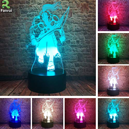 World of Warcraft Wow Series Grom Azerith Hellscream Warsong Clan Chieftain Yurnero – 3D Figure Action Multicolor 16 Colors Change Night Lights Home Boys Roon Decor Child Kids Adults Friend Xmas Gifts