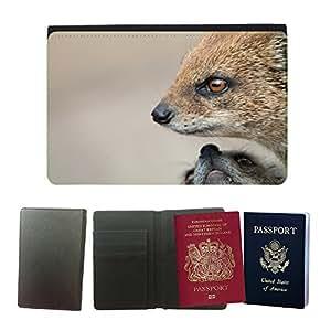 Passeport Voyage Couverture Protector // M00157796 mangosta Predator // Universal passport leather cover