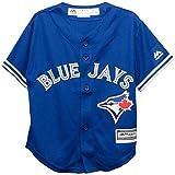 Majestic Toronto Blue Jays Alternate Blue Cool Base Toddler Jersey (2T)