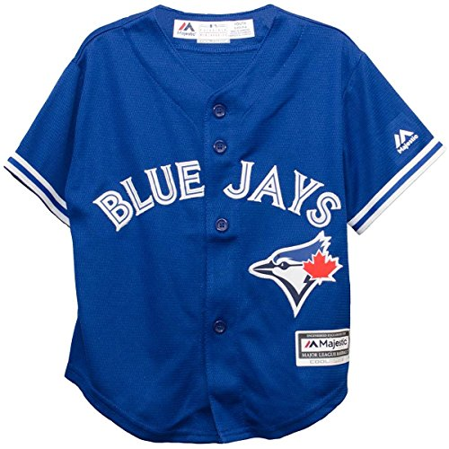 Majestic Toronto Blue Jays Alternate Blue Cool Base Toddler Jersey (4T) (Blue Jays Applique)