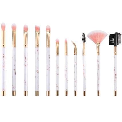 11 piezas de maquillaje de mármol traje de cepillado cepillo ...
