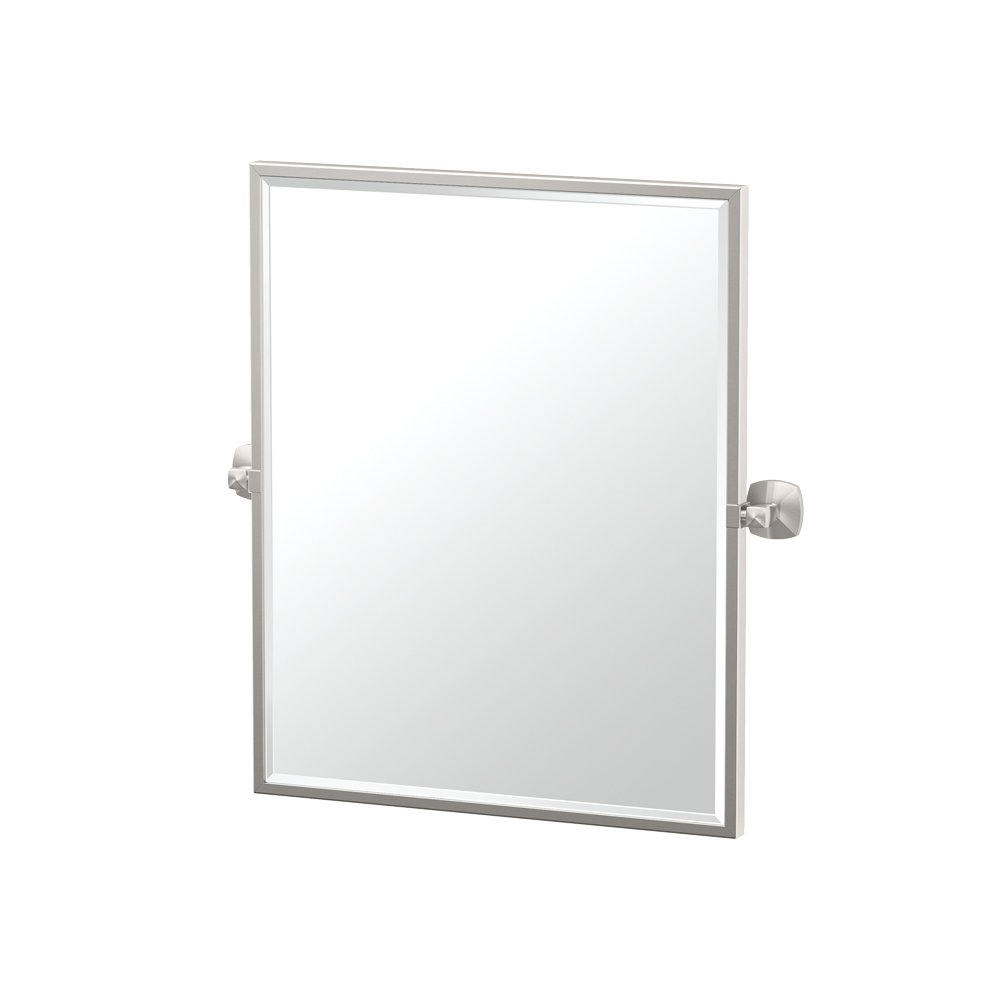 Gatco 4159FSM Jewel Framed Rectangle Mirror, Satin