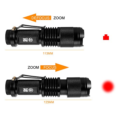 IR Infrared Night Vision Torch 5W 4 Chips 850nm Hunting Flashlight- Infrared Light is Invisible to Human Eyes -To be used with Night Vision Device With 18650 Battery by MAKE THE ONE (Image #3)