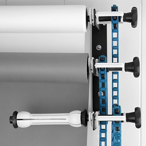 fotodiox triple roller paper drive set with wall mount support for mounting 3x paper background roll
