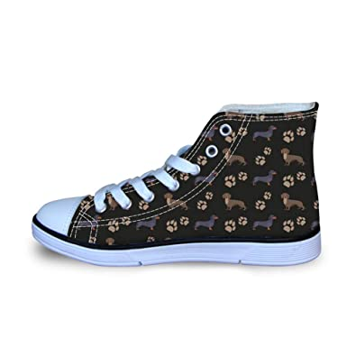 Coloranimal Toddler Child Lace Up Canvas Shoes Air Cushion Lightweight High Top Flats