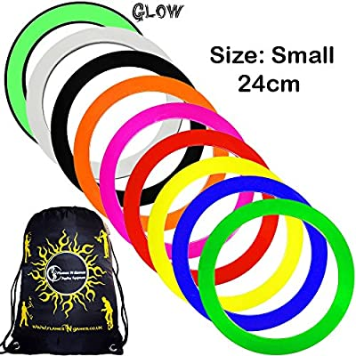 Mr Babache Pro Juggling Rings (Small-24cm) + 1x Flames N Games Travel Bag per order. Top Quality Rings For Juggling Ideal For All Ages & Levels of Skill!PRICE IS PER RING. (Yellow): Toys & Games [5Bkhe0705346]