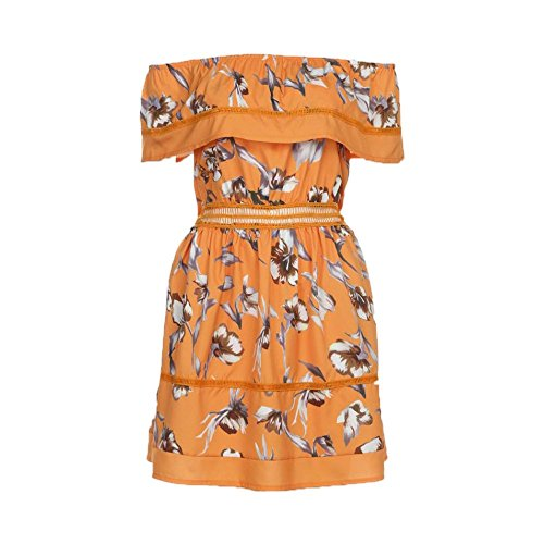 Letter Women Ladies Off Shoulder Butterfly Robe drapée Short Elegant Print Sundress