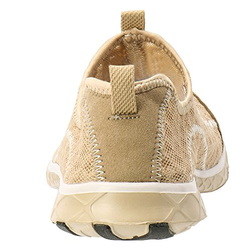 Aleader Mujeres Mesh Slip On Water Zapatos Gold