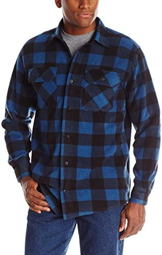 Wrangler Authentics Men's Long Sleeve Heavy Weight Fleece Shirt
