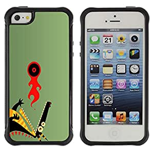 KEIZZ Cases / Apple Iphone 5 / 5S / Abstract Dragon / Robusto Prueba de choques Caso Billetera cubierta Shell Armor Funda Case Cover Slim Armor