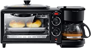 Home Three-in-one Multifunctional Breakfast Coffee Machine for Frying and Baking, Coffee Making, Home Bread Oven, Toaster, Cake Baking Pan