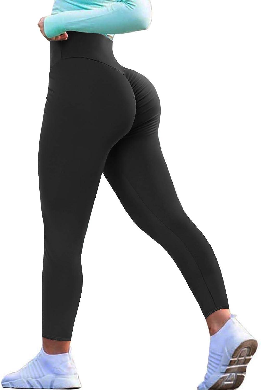 Womens Sports Scrunch Butt Lift Push Up Running Gym Leggings Athletic Yoga Pants