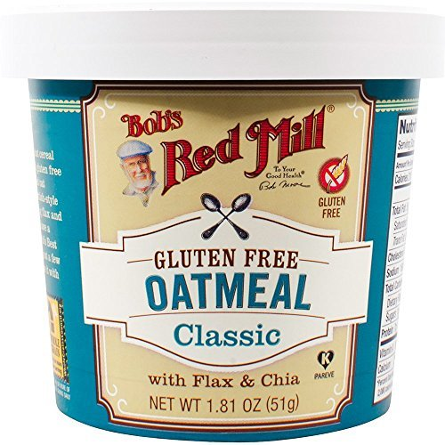 - Bob's Red Mill Gluten Free Oatmeal Cup Classic with Flax & Chia (Pack of 12) by Bob's Red Mill