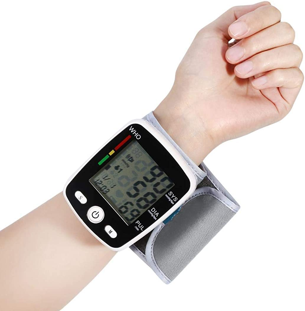 GoodKE Durable Automatic LCD Digital Display Wrist Blood Pressure Monitor Pulse Oximeters
