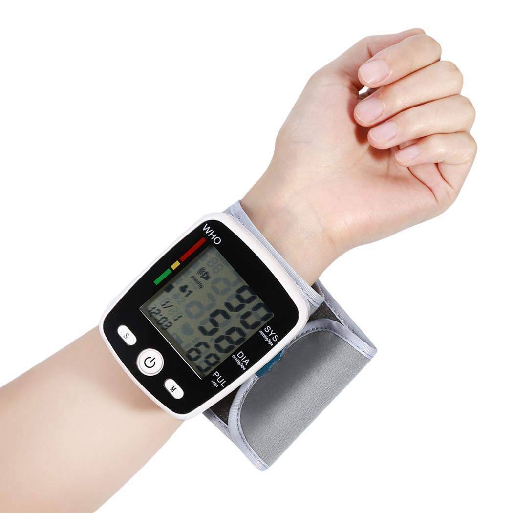 FANEO Durable Automatic LCD Digital Display Wrist Blood Pressure Monitor Pulse Oximeters