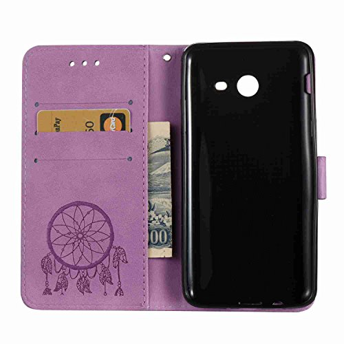 Funda Samsung Galaxy J5 2017 / J520, 5.2 pulgadas, Cáscara Samsung Galaxy J5 2017 / J520, Alfort Casco de Protección Relieve Carcasa PU Cierre Magnético Carcasa del teléfono con una función de Soporte Púrpura