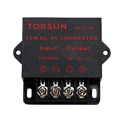 BINZET DC Converter Step Down Regulator 5V Regulated Power Supplies Transformer Converter (5V 3A 15W): Electronics