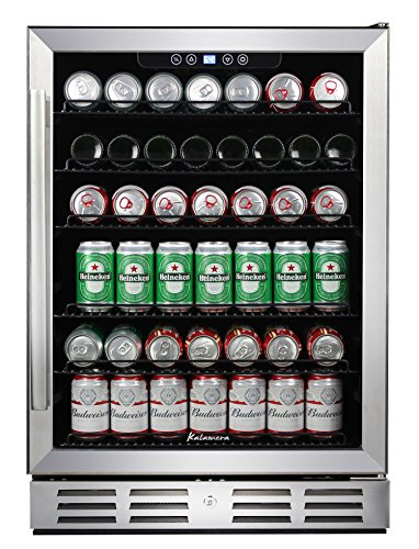 """Kalamera 24"""" Beverage Refrigerator 170 Can Built-in or Freestanding Single Zone Touch Control"""