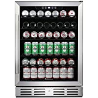 Kalamera 24 Beverage Refrigerator 170 Can Built-in or Freestanding Single Zone Touch Control