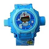 Doraemon Cartoon images Projector Watch Kids Digital Wrist Watch cartoon character watch
