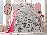 LaModaHome Luxury Soft Colored Twin and Single Bedroom Bedding 100% Cotton Single Coverlet (Pique) Thin Coverlet Summer /