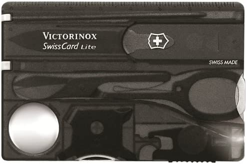 Image of a credit card-sized pocket tool in black, with multi-tools folded neatly.