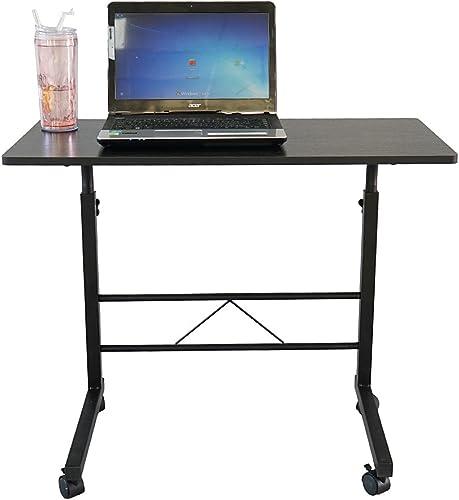 SSLine Rolling Sofa Side Snack Table Portable Laptop Computer Desk Stand