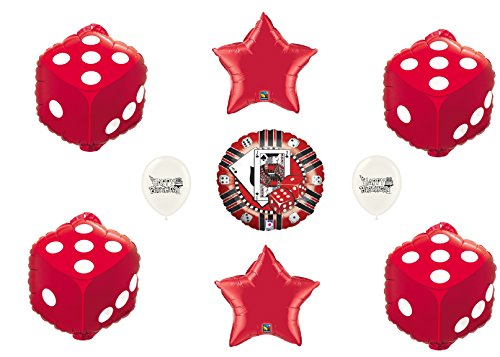 - Las Vegas Casino Roll the Dice Ultimate Balloon and Poker Chip Fun Party Decoration Bundle