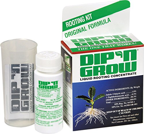 Dip 'N Grow DG00201 Liquid Hormone Concentrate Hydroponic Rooting Solution, 2-Ounce