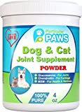Glucosamine for Dogs and Cats - Powder - Joint & Hip Supplement with MSM, Chondroitin, Vitamin C & E, Hyaluronic Acid, Omega 3 & 6 Flaxseed - 4 Ounce Powder by Particular Paws