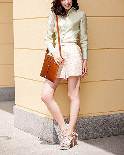 Body Cross With 1 Designer Shoulder Brown Design Womens Luxury New Crossbody Bags Messenger Zip Front Ladies qHT55