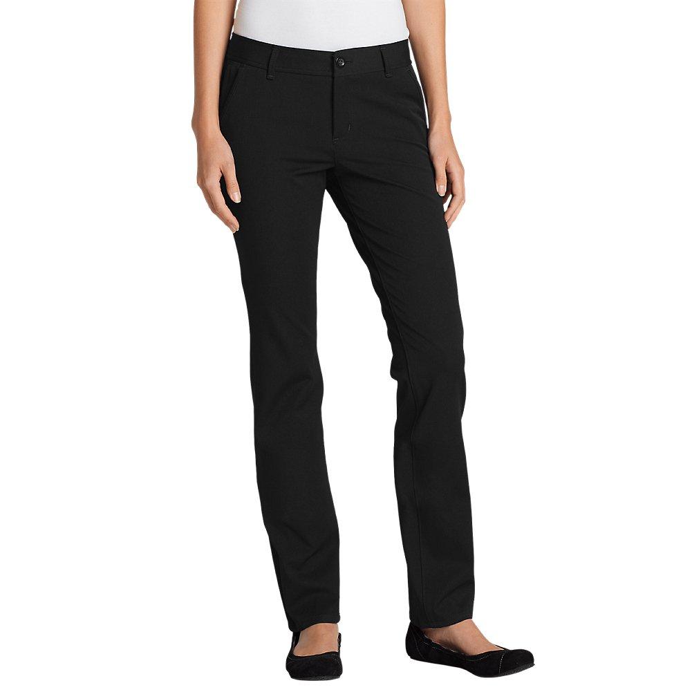 Eddie Bauer Women's Travel Pants - Slightly Curvy, Black Regular 12
