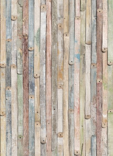 komar 4 910 vintage wood 4 panel wall mural - Decorative Wall Panels