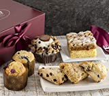 Gourmet Pastry Gift Basket of Foods-Includes Raspberry Crumb Cake. Rees's Cupcake, Muffins, and Assorted Flavor Scones Gift. Perfect Gourmet Gift!