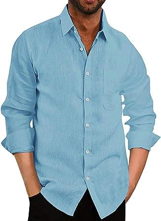 COOFANDY - Camisa de manga corta para hombre, de un solo color, para negocios, tiempo libre, ajustada, cuello céntimo para hombres: Amazon.es: Ropa y accesorios
